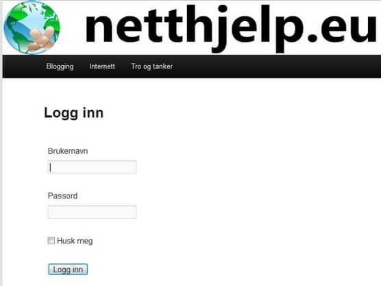 Nytt design pa Wordpress logg inn side
