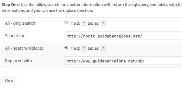 Masseforandring av lenker i Wordpress