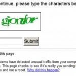 Hvorfor ber Google meg taste inn kode når jeg søker?