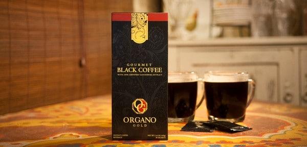 Svart organisk kaffe