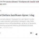 Automatisk visning av lenker i Wordpress – Nytt i Wordpress 4.4