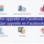 Hvordan opprette en Facebook side?